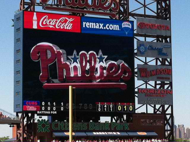 What was the phillies score yesterday