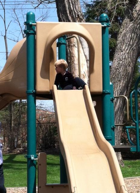 Park - Ethan on Slide