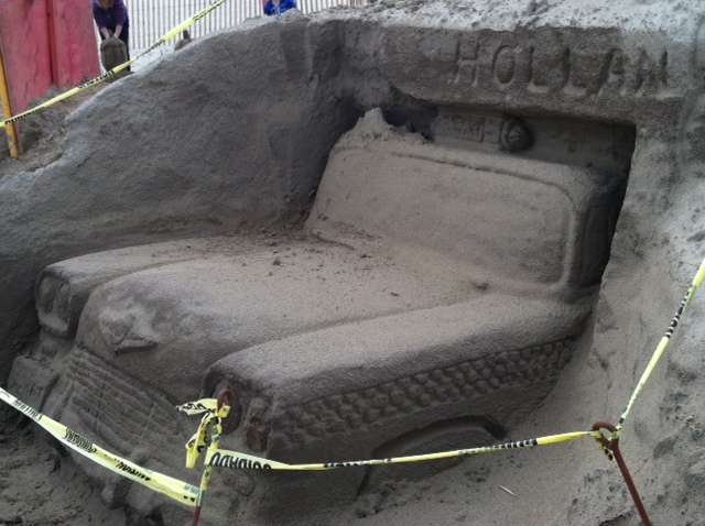 Sandy Castly Car Side