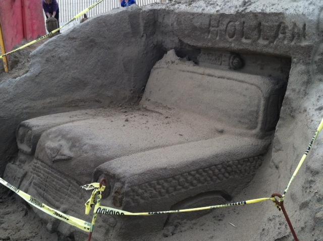 Sandy Castly Car Side