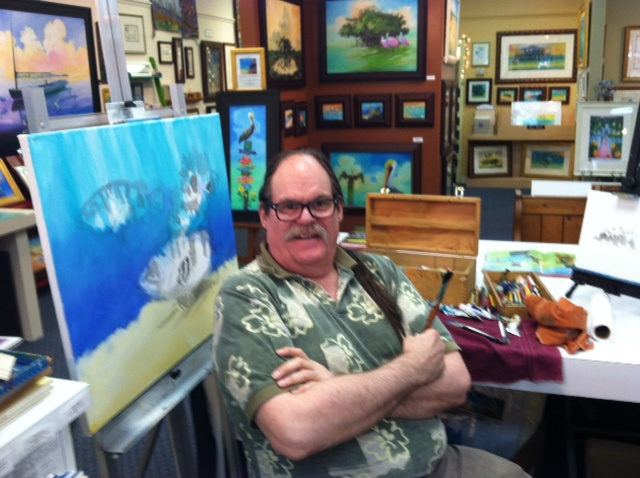 Dunedin Artist Bill Renc