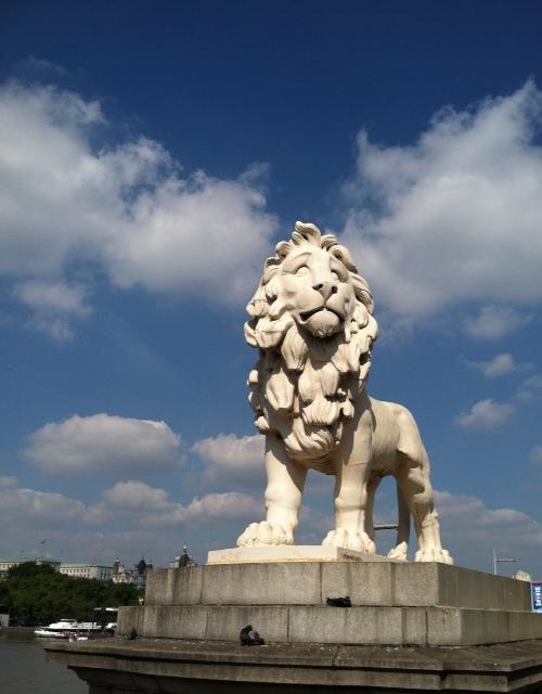 England - Lion in Sun