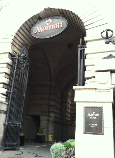 London - Marriott Entrance Sign