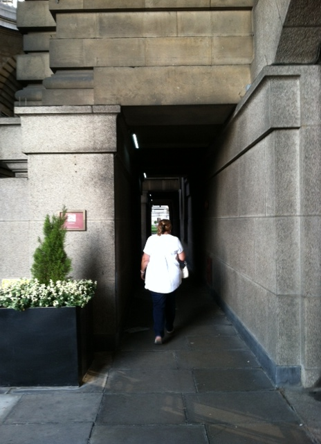 London - Marriott Miriam Walking Through