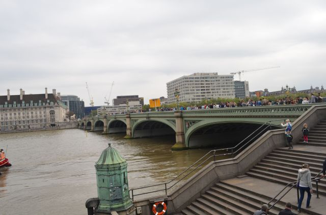 London - View of County Hall Across Thames
