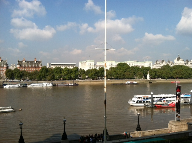 London - View out of Marriott Window Thames