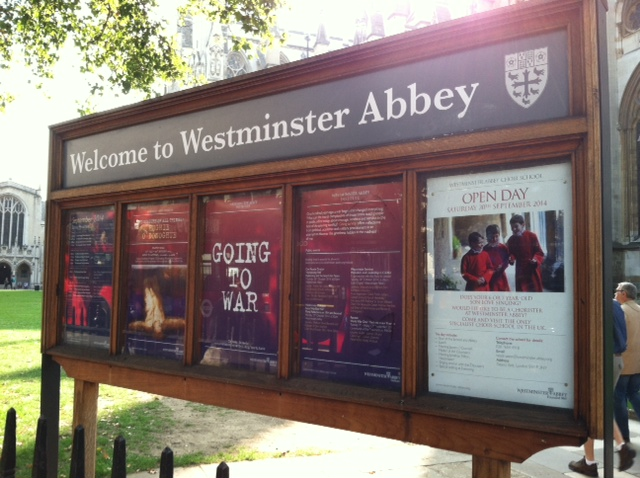 London Westminster Abbey sign