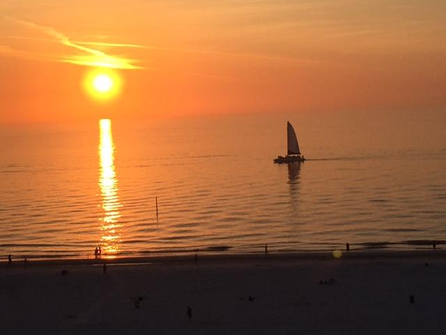CB Sail Toward Sunset