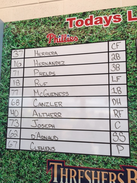 Phils lineup
