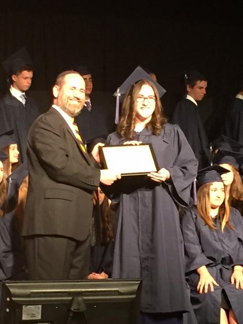 Kayla Getting Diploma
