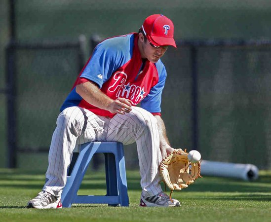 Utley on Stool