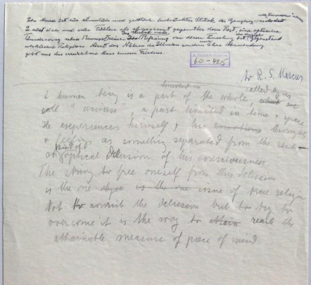 einstein letter draft