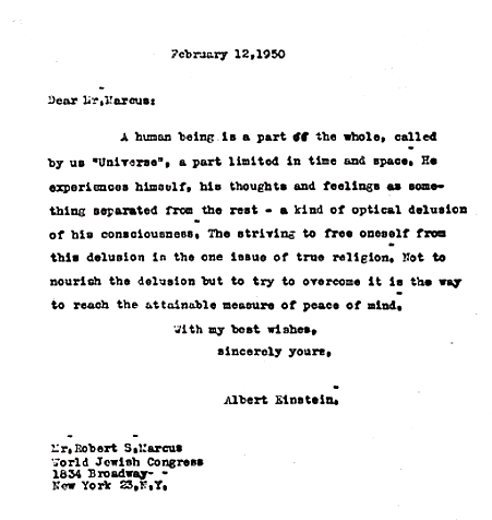 Einstein Typed Letter
