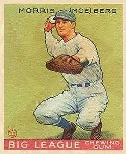 Moe Berg Baseball Card